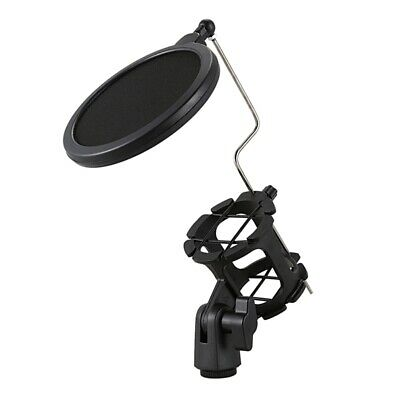 Studio Microphone Mic Wind Screen Pop Filter/ Swivel Mount / Mask Shield Fo W6Z9