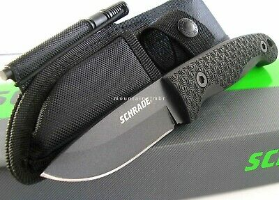 Schrade Small Frontier Fixed Blade Full Tang 5 mm Knife w/ Fire Starter SCHF56