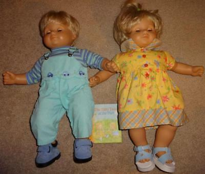 7884be476a300 AMERICAN GIRL BITTY BABY TWINS BLONDE DOLLS in Sunny Days + Play Outfits