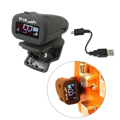 USB Charging Clip-on Guitar Digital Tuner Chromatic for Acoustic Electric Bass