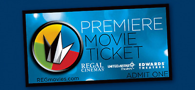 Regal Premiere Print-At-Home E-Ticket - Any Movie - Any Time - Never Expire!!!