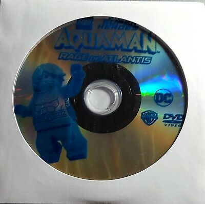 Lego DC Super Heroes Aquaman Rage of Atlantis DVD Disc Only. Free shipping!