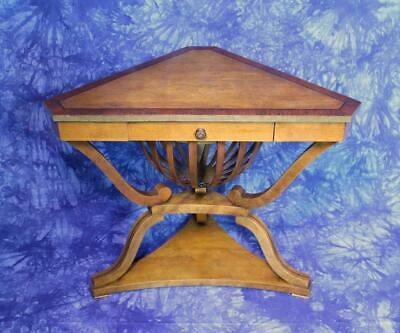 Empire Style Antique Corner Table Side End Coffee Console Nightstand Server Desk