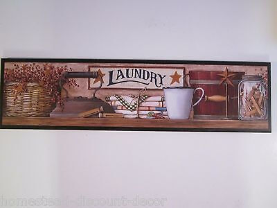 Laundry Room Sign Country Rustic wall decor picture primitive lodge plaque