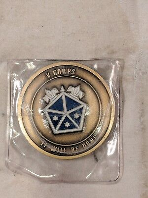 US Army V Corps Command Sergeant Major Challenge Coin