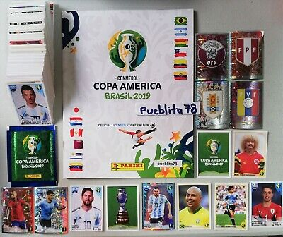 PANINI Copa America Brazil 2019 complete album + PACK Messi Japan MADE IN ITALY