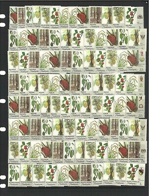 Malaysia 98 Different Stamps of Agriculture & Coat of Arms 14 States Mint MUH