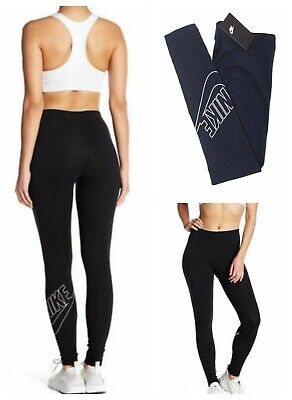 eff58405bfde9 Nike Women's Leg A See Logo Club Futura Leggings Black or Navy Pants S M  AH1034