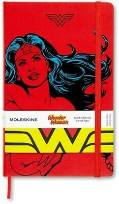 Moleskine Limited Edition Notebook Wonder Woman, Large, Ruled, Red, Hard Cover (