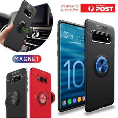 Samsung Galaxy S10 Plus S10E Luxury Magnetic 360 Ring Holder Phone Case Cover