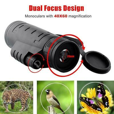 Day 40X60 HD Monocular Outdoor Hunting Camping Hiking Telescope Kit