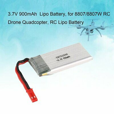 4PCS 3.7V 900mAh JST Li-po Battery with 4 in 1 Charger for 8807/8807W RC Dr MZ