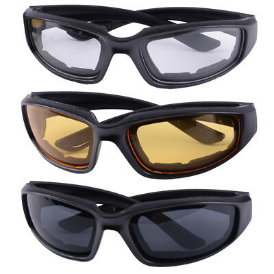 d11a6a33c309a 3 Pairs Combo Chopper Padded Wind Resistant Sunglasses Motorcycle Sports  Glasses
