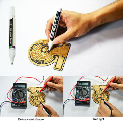 Conductive Ink Pen Dry Electronic Circuit DIY Draw Instantly Magical Tool Chic