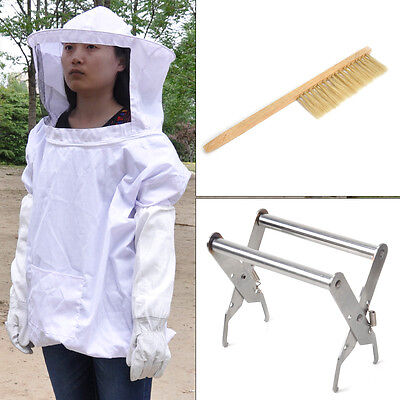 Beekeeper Tool/Bee Keeping Jacket+Beekeeping Gloves+Bee Brush+Hive Frame Holder