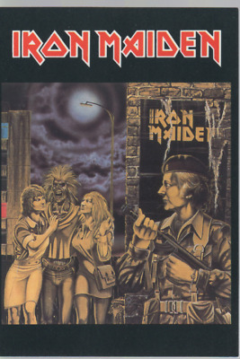 IRON MAIDEN DISCOGRAPHY CARTE POSTALE FRENCH POSTCARD 4X6 IMD0703-001