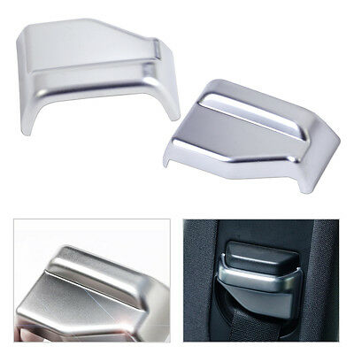 2x Chrome Inner Seat safty belt Pillar Decorator Trim Cover For BMW X6 E71 09-16