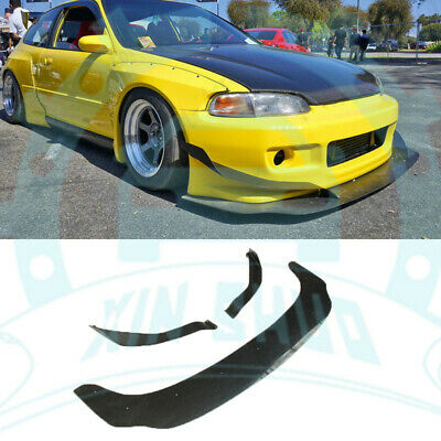 FRP Canards Front Splitter Lip For Honda Civic Hatchback(EG) 1992-1995 ab420