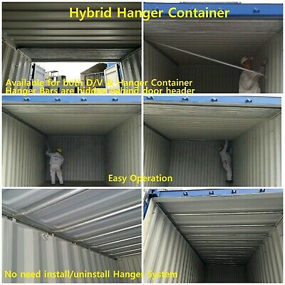 Hybrid Hanger Container, Garment Shipping Container, Hanger Shipping Container