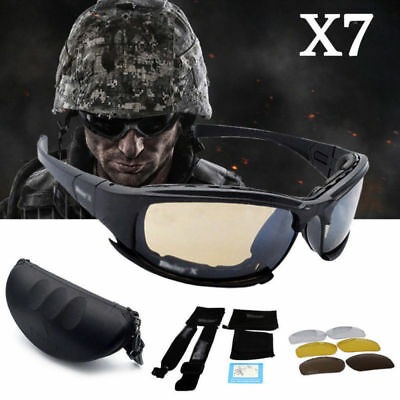 Mens Daisy Military X7 Polarised Tactical Glasses Goggles Motorcycle Sunglasses