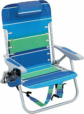 30f66422a0 RIO BRANDS 4 Position Lace-Up Backpack Chair One Size Green/blue/white