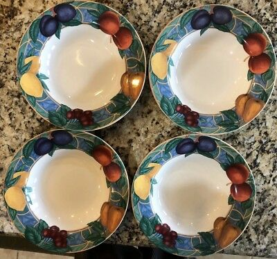 4 Victoria Beale Casual Forbidden Fruit 9024 Rim Soup Cereal Bowls - NEAR MINT