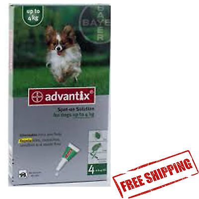 ADVANTIX under <4KG 4 spot-on for dogs chien hunde perro FREE SHIPPING EUROPE
