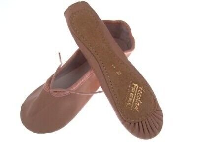 Freed Of London Accolade Full Foot Pink Leather Ballet Shoes Wide Adult Sizes