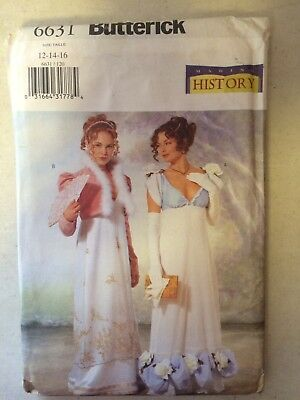 Butterick 6631 Edwardian Regency Titanic Dress Jacket Pattern, Uncut, Sz 12 - 16