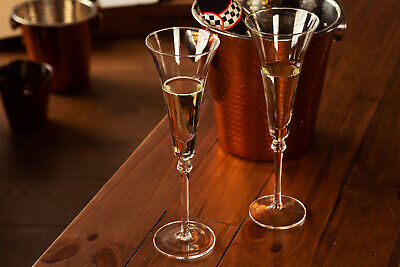 4pc Large Champagne Gles Tall Luxury Prosecco Gl
