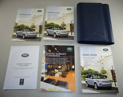 Owner's Manual + Wallet Range Rover Typ LG / L405 from 2015