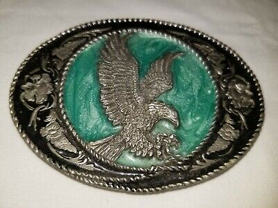 Vintage 1991 Siskiyou G-5 Bald Eagle Pewter Belt Buckle USA