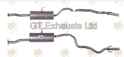 Exhaust Back Rear Box fits TOYOTA HI-ACE Mk4 2.4D 95 to 01 2L Klarius Quality