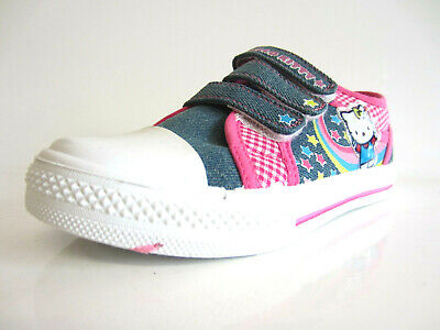 Hello Kitty Girls Trainers Pink/Grey/Multi Lace Up Trainers (KR)
