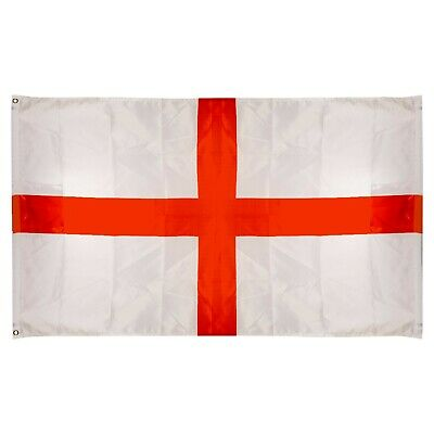 3' x 5ft England Flag Mast Eyelets St Georges Cross Day Rugby Football World Cup