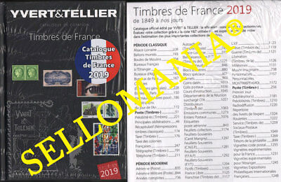 Yvert & Tellier Catalogo De Sellos De Francia 2019  France Catalogue Timbres