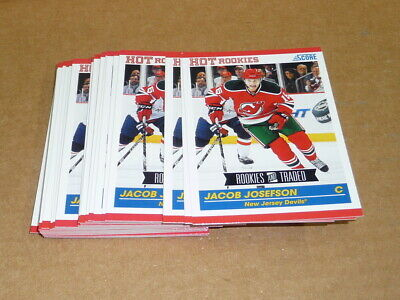 2010/11 Panini Score Rookie Traded JACOB JOSEFSON LOT OF 29 CARDS DEVILS #627