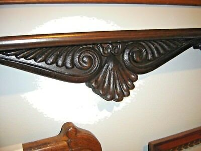 Antique Dark Oak Shelf with Applied Carving 8109