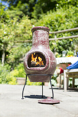 Clay Chimenea Red Clay Chiminea Patio Heater Garden Heater Outdoor Fire Chimenea