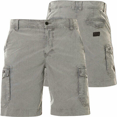 d74554c21b AFFLICTION Mens CARGO Shorts WALLACE Embroidered GREY Hybrid Walking $58 NWT