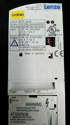 Lenze 8200 Vector 13127094 01623790 E82Ev751_4C  (In18S1B1)