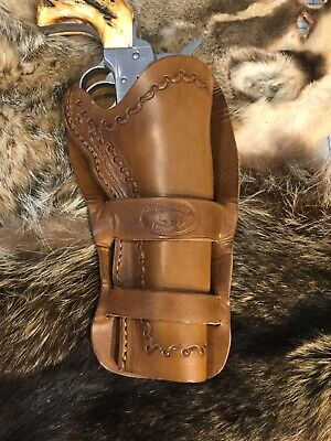 """LEATHER WESTERN COWBOY Holster For 5 1/2"""" Ruger Vaquero, SAA Revolvers (M5)"""