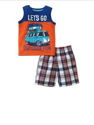 Healthtex Baby Toddler Boy 2t Graphic Tank and Shorts Outfit Set