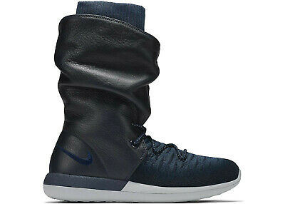 online store 09a54 f7228 Women s Nike Roshe Two Hi Flyknit Boot COLLEGE NAVY BLUE BLACK 861708-400 sz  6
