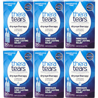 6 Pack - Thera Tears Lubricant Eye Drops, 30 Each