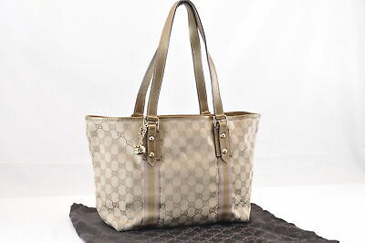 1bc769ca823 AUTHENTIC GUCCI SHERRY Line GG Plus Old Gucci Tote Bag Hand Bag ...