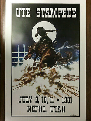 signed by the artist 2018 Prescott Frontier Days® World/'s Oldest Rodeo® poster