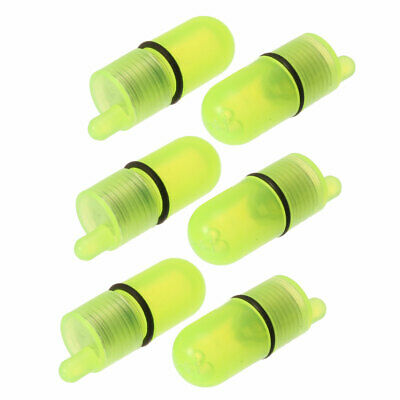 6pcs Green LED Underwater Night Fishing Light Lure for Attracting Bait and Fish
