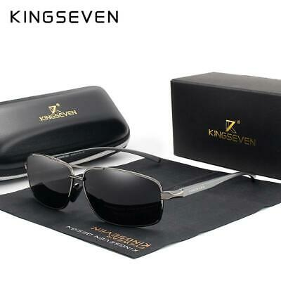 KINGSEVEN Vintage Retro Brand Designer Men Polarized Sunglasses Square Classic M