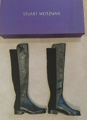 d6ad744ca36 Stuart Weitzman 5050 Over the Knee Stretch Leather Boots NIB  655 Size 4.5 M